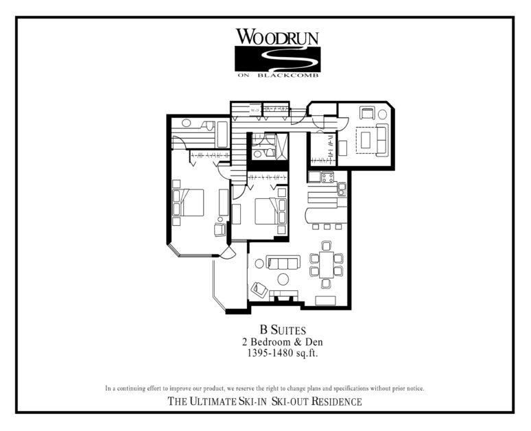 Woodrun Suite B floor plan