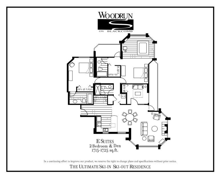 Woodrun Suite E floor plan