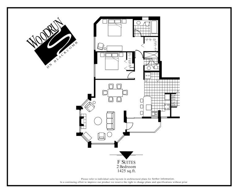 Woodrun Suite F floor plan