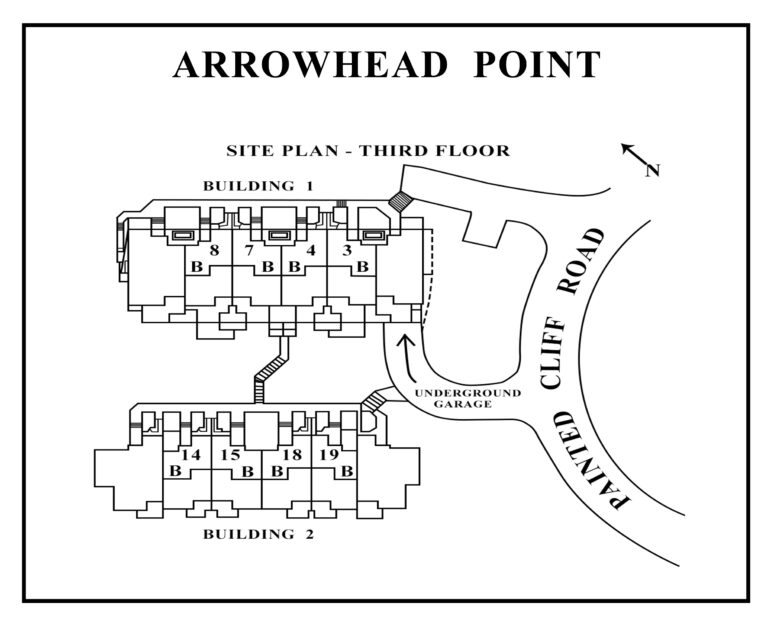 Arrowhead Point third floor site plan showing unit locations