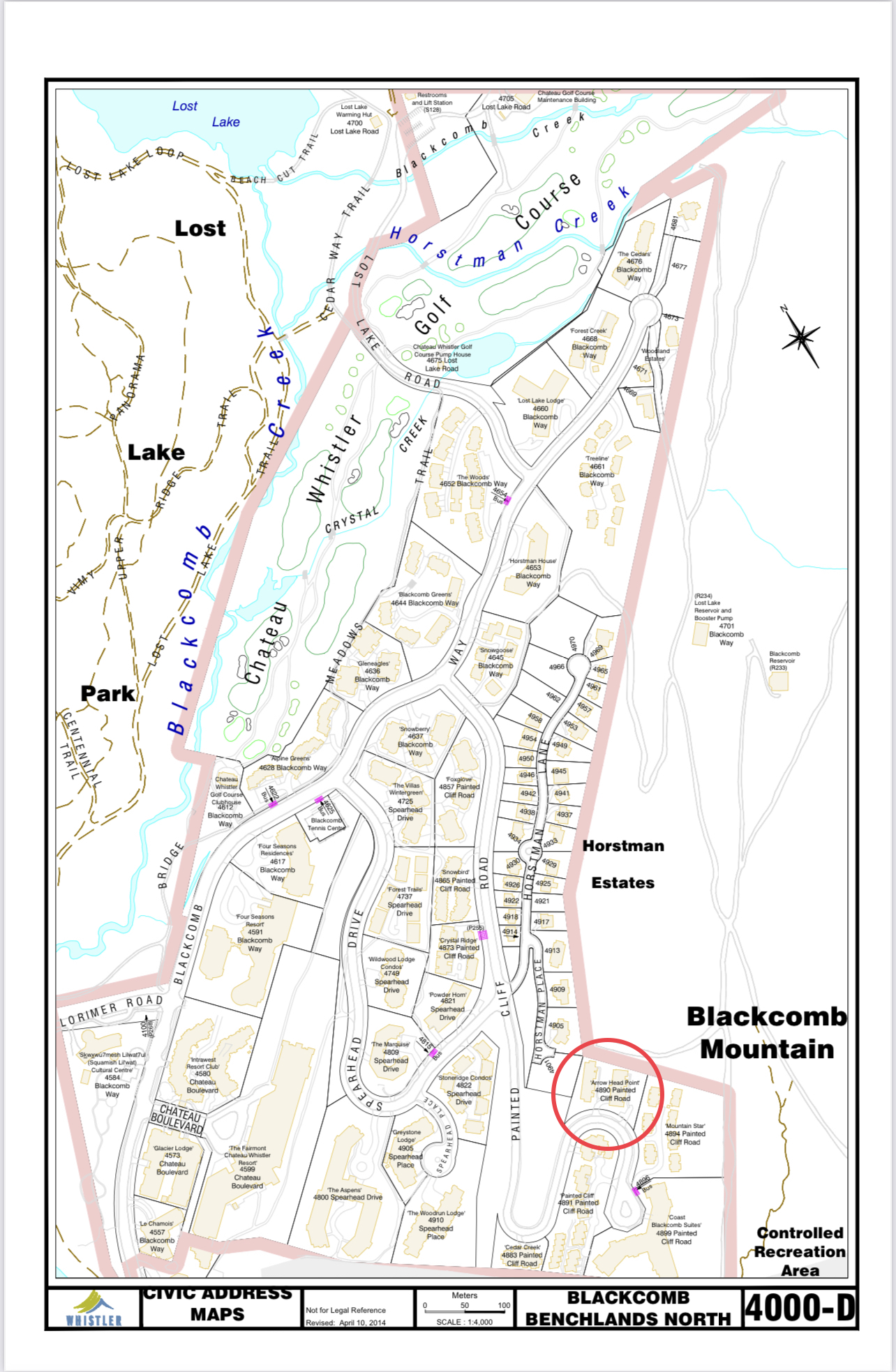 arrowhead point civic address map